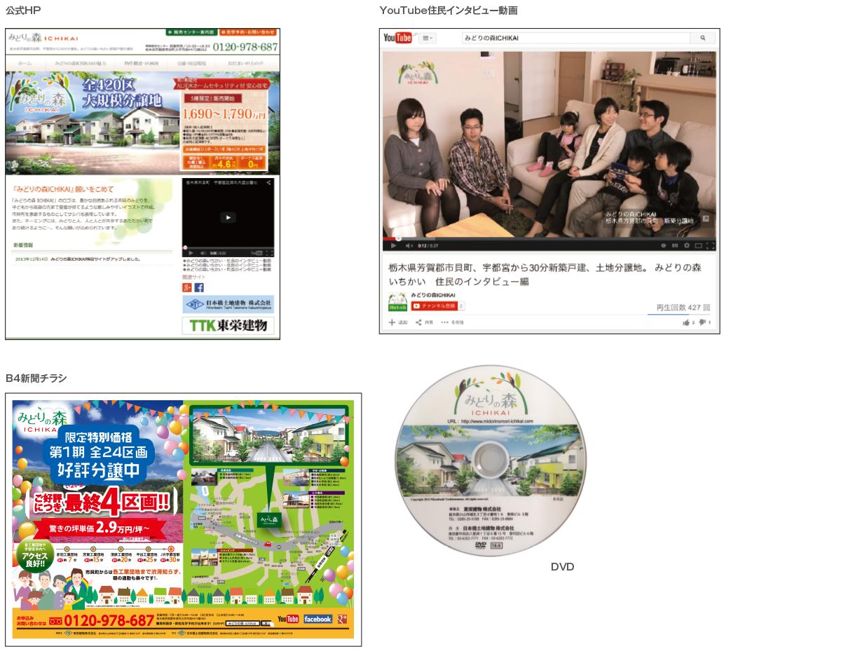 HP、動画、チラシ、DVD